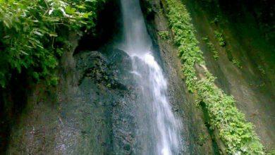 نمایی از آبشار زیبای روستای شرکان