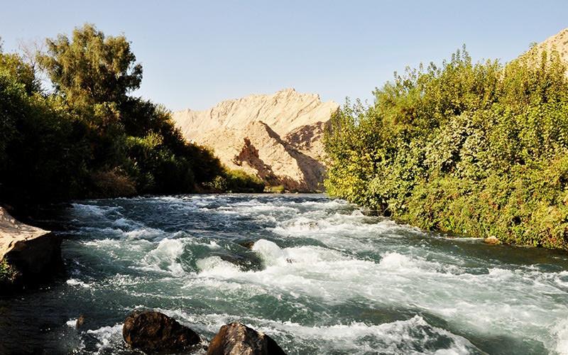 نمایی از رودخانه سیروان در مجاورت روستای ژیوار