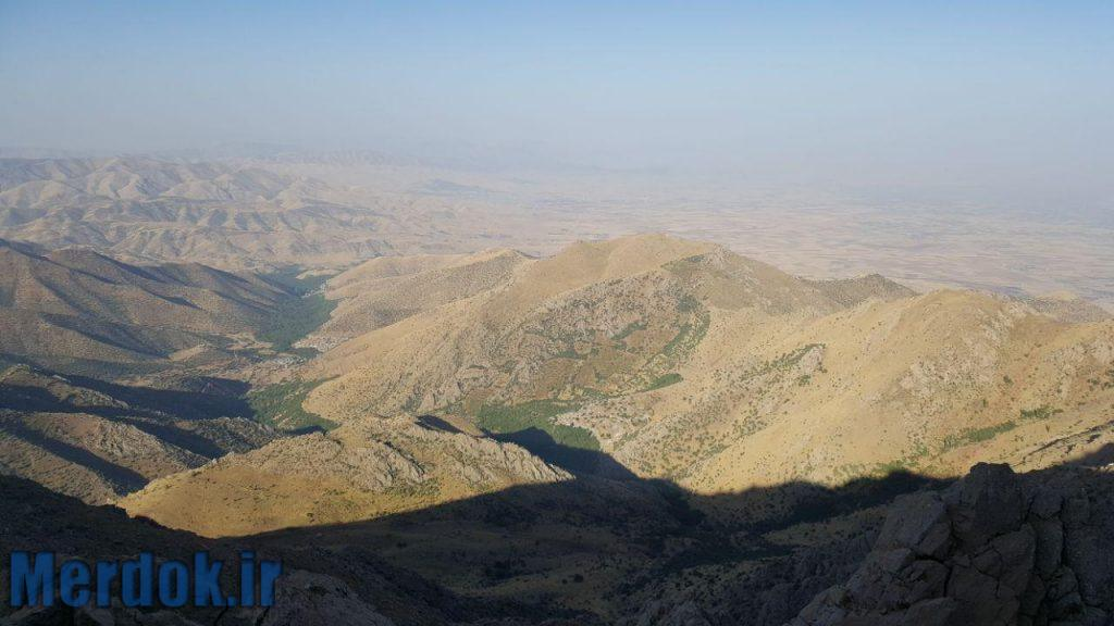 نمایی زیبا از روستاهای بیرواس ( بیدرواز ) و هانی گرمله در ایران و روستای بیاره در عراق