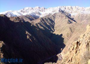 ارتفاعات کوه دالانی ( عکس گرفته شده از جاده ی داریان )