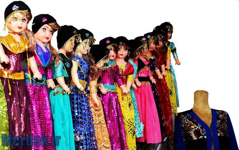 رنگ آمیزی شاد در لباس های کردی