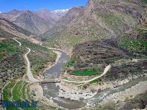 رودخانه سیروان در مجاورت روستای سلین