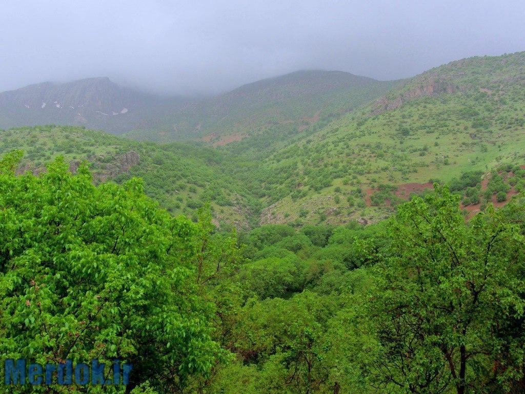 کوه های اطراف روستای اورامان تخت