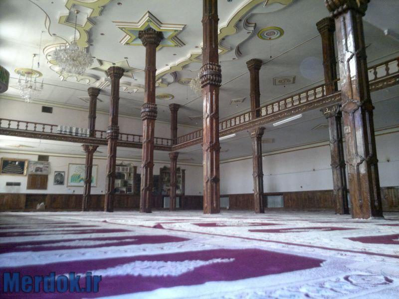 نمای داخلی مسجد سنگی - اورامان تخت