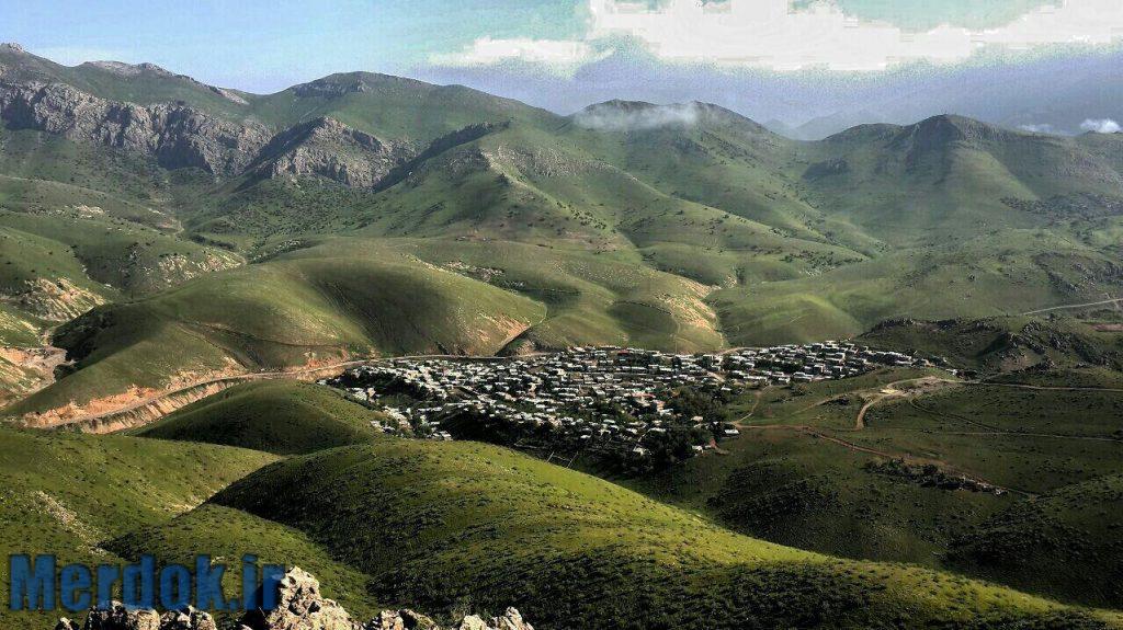 نمایی زیبا ازشهر بانه وره  _  شهرستان پاوه