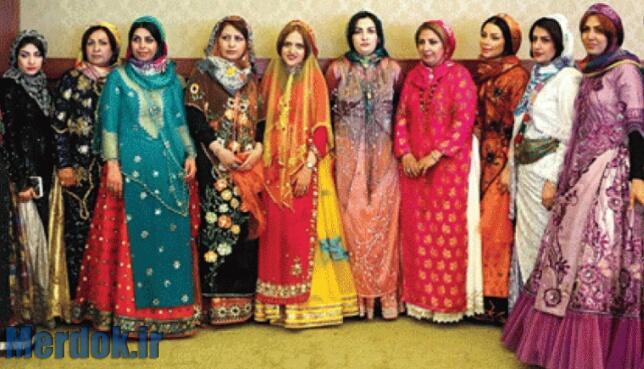 لباس کردی زنانه