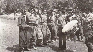 تصویری از مراسم جشن وشادی درروستای خانقاه زمان:1355 ارسالی از:آقای قادرمیری